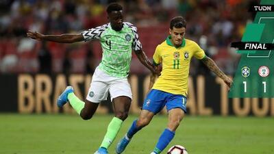 Doloroso empate de Brasil frente a Nigeria en Singapur