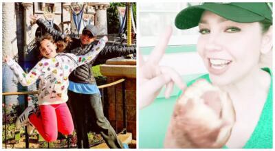 Thalía se olvidó del glamur y rompió la dieta divirtiéndose con sus hijos en Disneyland