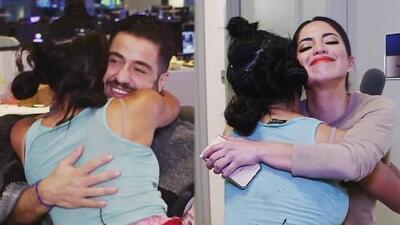 Mela la Melaza dejó mareados a los periodistas de Univision Noticias en este día dedicado a abrazarlos