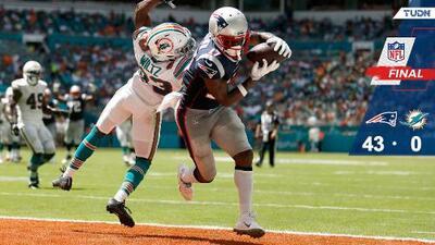 New England Patriots apalearon a Miami Dolphins