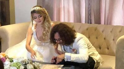 La cuarta es la vencida: Oscar Burgos se casó con Carolina Castro