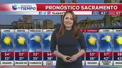 Condiciones nubladas para este lunes en Sacramento