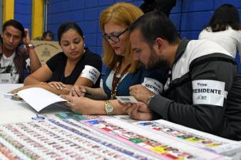 En fotos: así transcurren las elecciones generales en Honduras