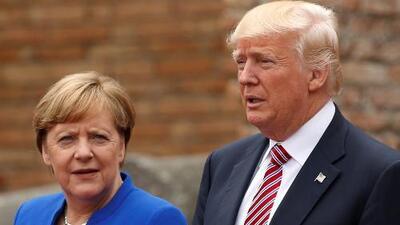 """Canciller alemana sobre el debate del cambio climático con Trump: """"Difícil e insatisfactorio"""""""