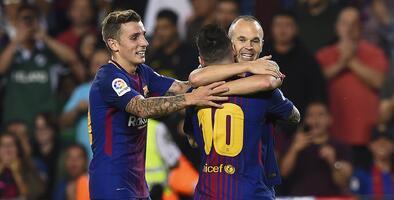 Barcelona mantiene distancia en La Liga a costa del Málaga