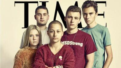 De las redes sociales a la portada de Time: los estudiantes de Parkland al frente de la lucha contra las armas (fotos)
