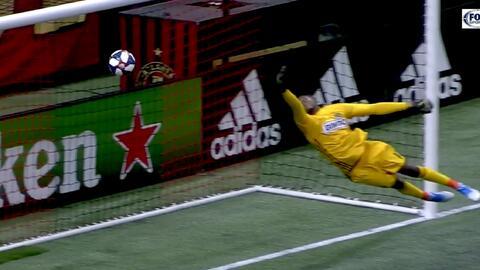 Con un mágico testarazo Ezequiel Barco empata el partido, Atlanta United 1-1 Philadelphia