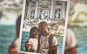 Laura Carmine y Roberto Romano derrochan amor en Italia