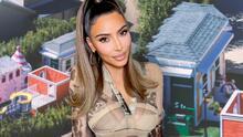 ¿Casa de muñecas? No, Kim Kardashian construye una mini ciudad para sus hijos con Starbucks incluido