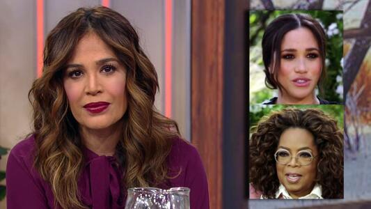 Karla Martínez por la reacción de Oprah con lo que Meghan Markle contaba de la familia real