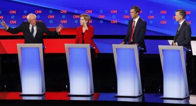 Warren y Sanders unen su 'artillería' progresista contra los aspirantes demócratas 'moderados' en el segundo debate (fotos)