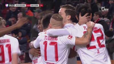 ¡Gol de vestidor! El Augsburg sorprende al Bayern Múnich a los 14 segundos de juego