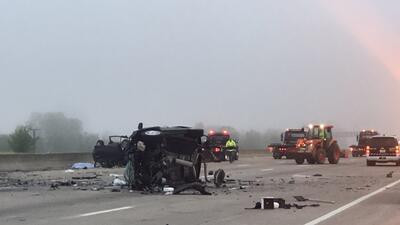 Accidente fatal en la autopista I-45