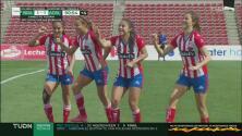 ¡Lo consigue! Daniela Carrandi hace el 1-1 ante Bravas de penal