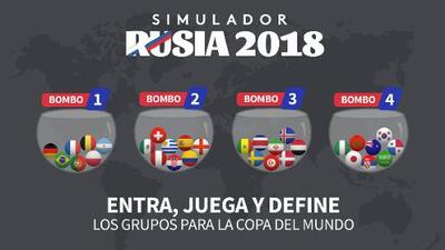 En unos momentos es el sorteo del Mundial de Rusia, aquí puedes 'adelantar' los resultados