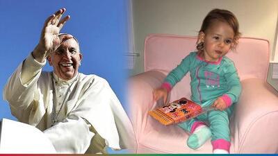 Padres atribuyen a beso del Papa Francisco la milagrosa curación de su hija con tumor cerebral