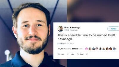 Este hombre confiesa la pesadilla que es llamarse Brett Kavanagh (no Kavanaugh) e Internet enloquece