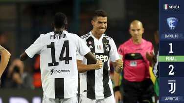 ¡Comandante! Cristiano marca un doblete y guía la remontada de la Juventus ante el Empoli
