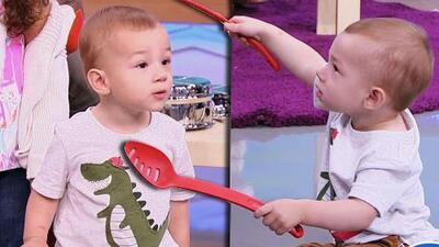 Liam, el hijo de Alan Tacher, es un bebé que adora hacer ruido y eso le ayuda en su aprendizaje