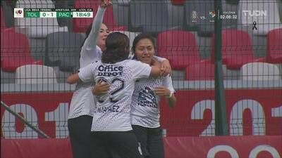 ¡Las Tuzas pegan primero! Gol de Viridiana Salazar (0-1) ante Toluca