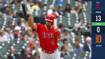 Albert Pujols llega a 2,000 RBI en paliza de los Angels sobre los Tigers