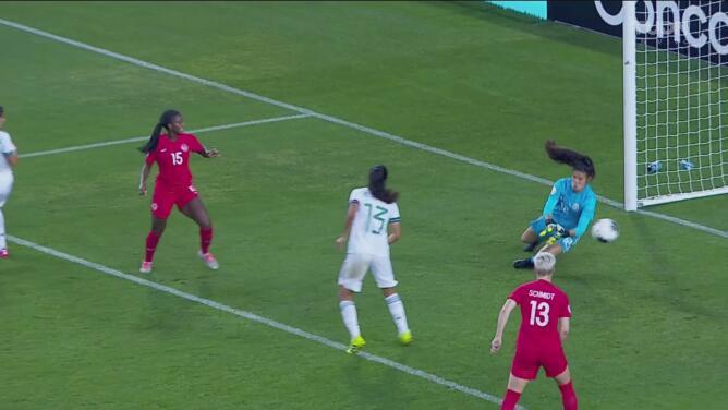 Shelina Zadorsky logra el 2-0 para Canadá en la compensación