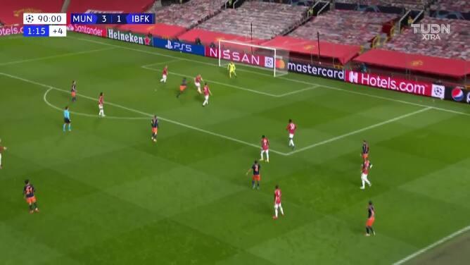 Daniel James puso el cuarto gol para el Manchester United