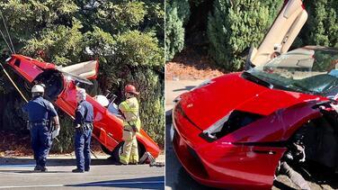 Choca un Lamborghini contra alambres de un poste de luz en el este de Sacramento