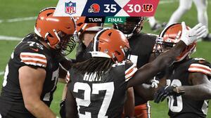 Hunt y Chubb impulsan a Browns ante unos Bengals aguerridos