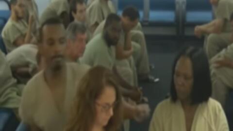 El fuerte manotazo que un recluso le propinó a una abogada durante una audiencia