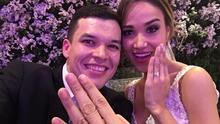 El cantante Leandro Ríos se casó por la iglesia con Elizabeth Murrieta