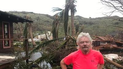 Richard Branson perdió su casa en las BVI y coordina desdePuertoRicoayuda para el Caribe