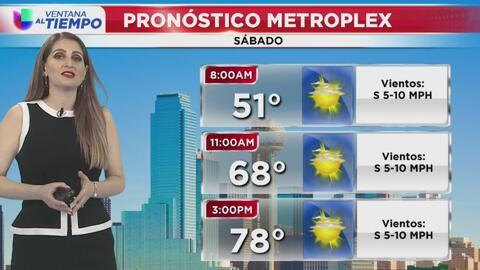 Ventana al Tiempo: Condiciones secas y cielos despejados durante este sábado en Dallas