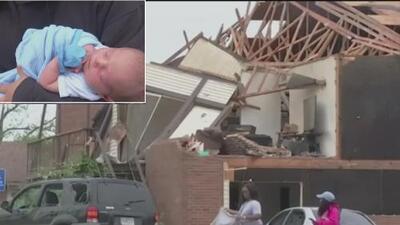 Una madre logró salvar a su bebé de 4 días de nacido en medio de las tragedias por los violentos tornados en EEUU