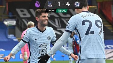 Christian Pulisic hizo 'doblete' en el triunfo del Chelsea