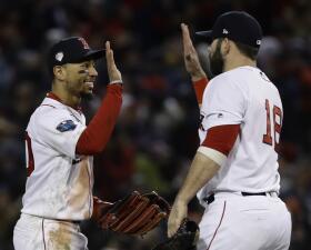 Entrada x entrada: Los Red Sox superan 4-2 a los Dodgers y están a mitad de otro título