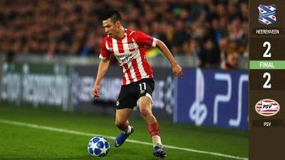 ¡Volvió!: Hirving Lozano cumplió 50 juegos con el PSV pero no lograron vencer al Heerenveen