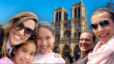 En fotos: Karla, Alan y Carlos expusieron con melancolía sus recuerdos en la catedral de Notre Dame