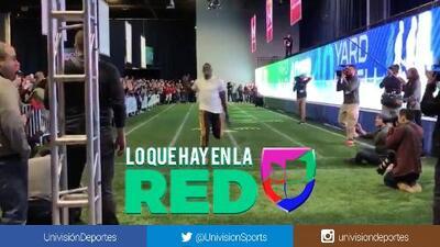 Usain Bolt igualó en Atlanta el récord en la prueba de 40 yardas en la NFL