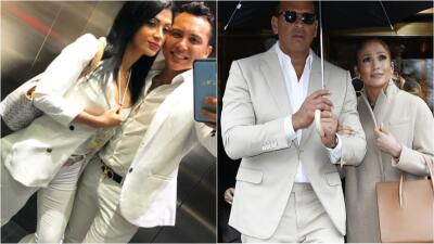 Edwin Luna y su esposa piensan tanto sus looks que se parecen a JLo y A-Rod
