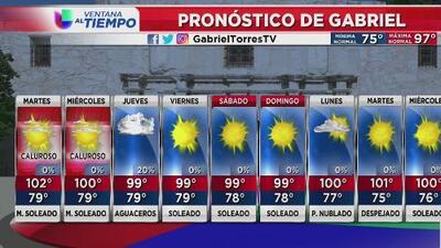 Centro de Texas pudiera experimentar lluvias para el jueves