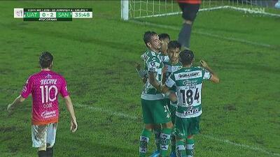 ¡Huele a goleada! Aguirre logra el 3-0 a favor de Santos