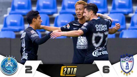 Puebla 2-6 Pachuca – RESUMEN Y GOLES – Clausura 2018 Liga MX