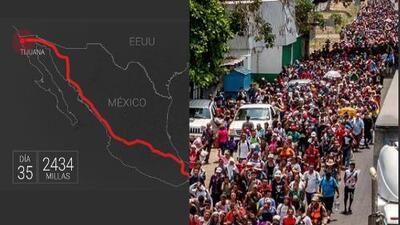 Diario de la caravana de centroamericanos que llegó a EEUU