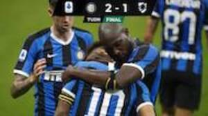 El Inter de Milán sigue firme y ahora derrota a la Sampdoria