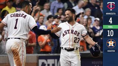 Cuadrangular de Altuve impulsa victoria de los Astros sobre los Twins