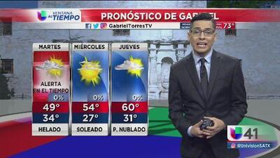 Nubosidad y bajas temperaturas en San Antonio