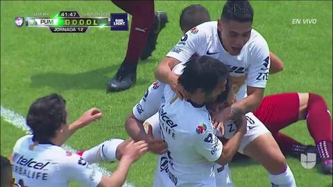 ¡GOOOL! Luis Quintana anota para Pumas UNAM