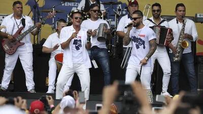 Más de 35 artistas cantaron en el Concierto por la Libertad en Cúcuta, para ayudar a los venezolanos