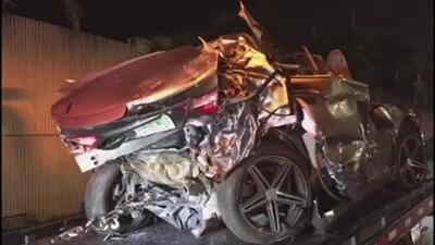 Un niño entre los heridos del accidente que involucra 10 vehículos en la autopista I-95